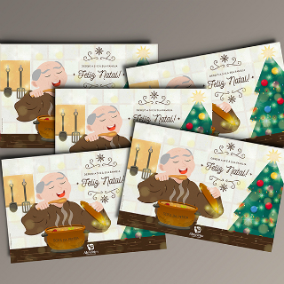 Holidays Card Illustration - Sopa da Pedra